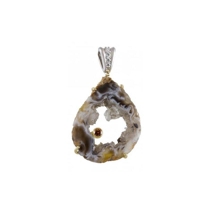 Customgold Crystal Geode Pendant