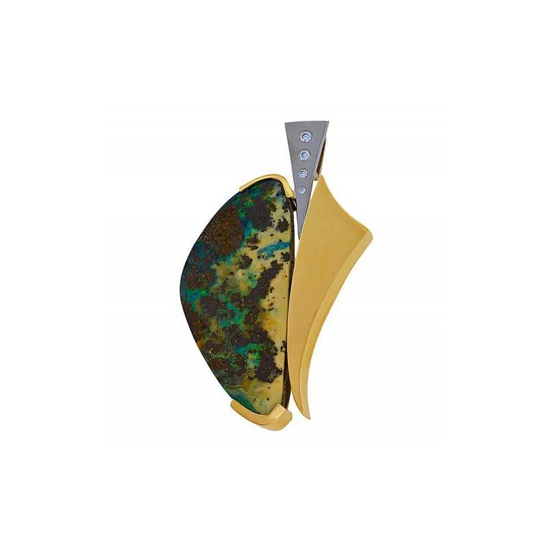 Customgold Boulder Opal Pendant