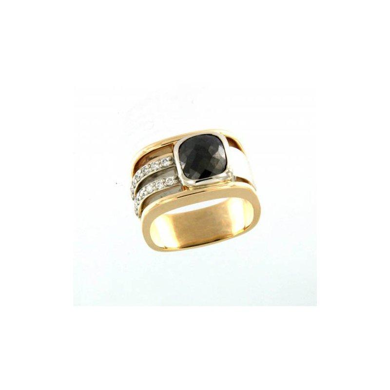 Customgold Men's Black Diamond Ring