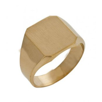 Men's Octagon Signet Ring