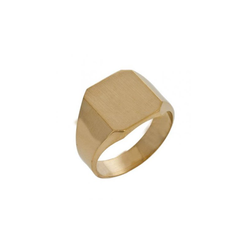 Customgold Men's Octagon Signet Ring