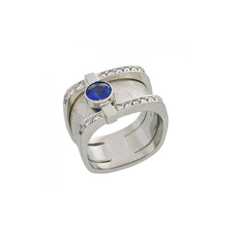 Customgold Men's Sapphire Ring