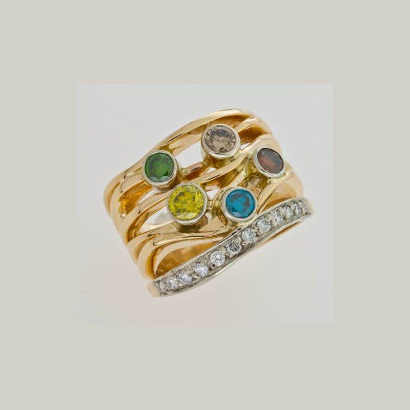 Customgold Colored Diamond Fashion Ring