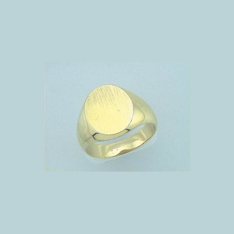 Customgold Men's Oval Signet Ring