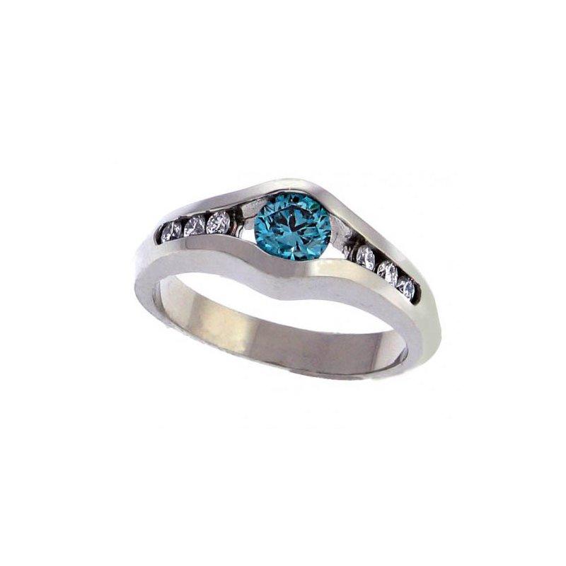 Customgold Blue Diamond Fashion Ring