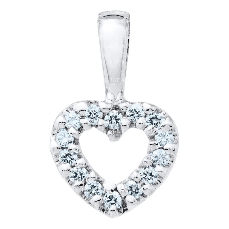 Marathon Co. Marathon Sterling Silver Open Heart Pendant