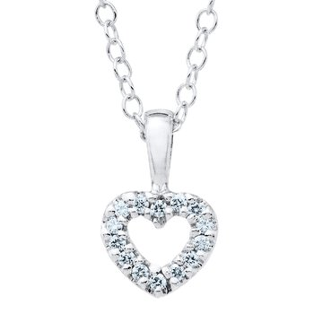 Marathon Sterling Silver Open Heart Pendant