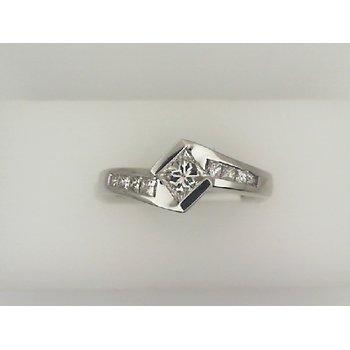 Princess Bezel Engagement Ring