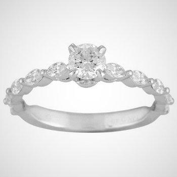 Milagrain Engagement Ring