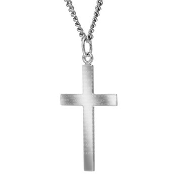 Marathon Sterling Silver Cross Necklace