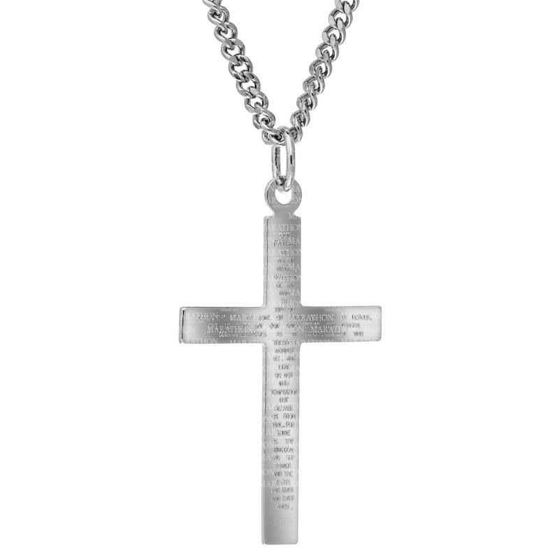 Marathon Co. Marathon Sterling Silver Cross Necklace