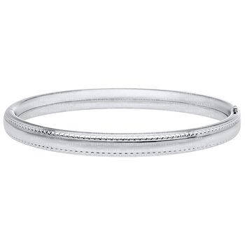 Marathon Sterling Silver Beaded Edge Bracelet