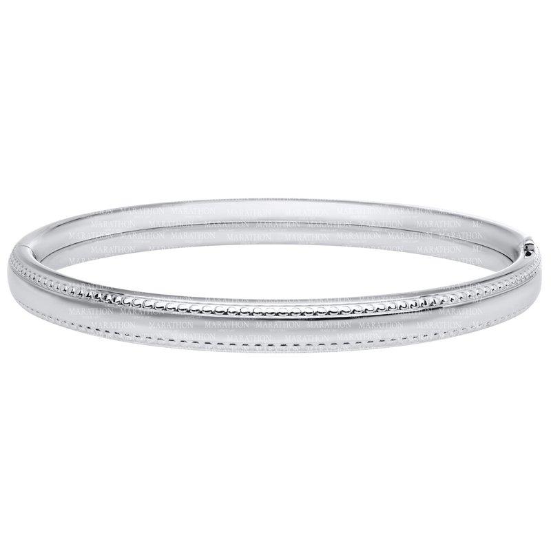 Marathon Co. Marathon Sterling Silver Beaded Edge Bracelet