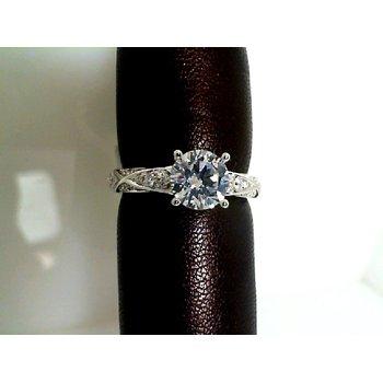 Geometric Twist Shank Engagement Ring