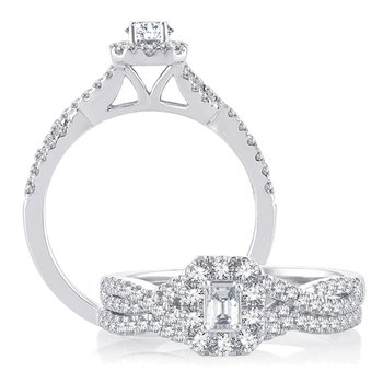 14K 0.75Ct Diam Bridal  Ring