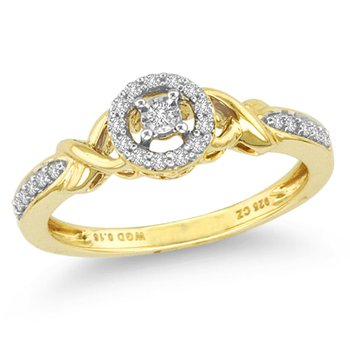 14K 0.16Ct Diam Ring