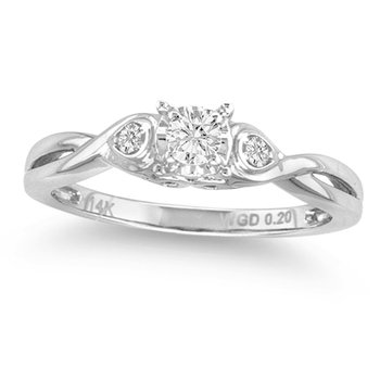 14K 0.19Ct Diam Ring