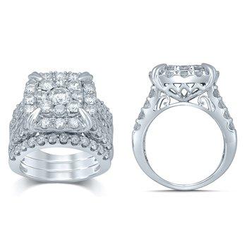 14K 5.25Ct Diam Bridal Ring