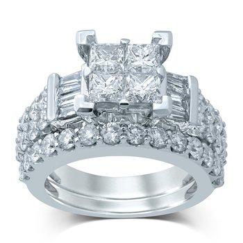14K 3.88Ct Diam Bridal Ring