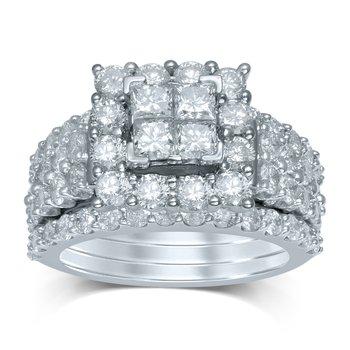 14K 3.94Ct Diam Bridal Ring