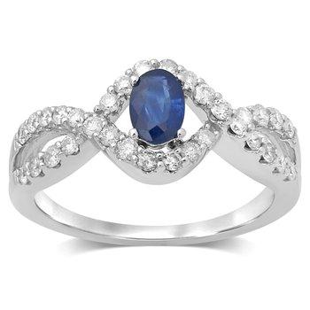 14K  0.50Ct Diam  Sapphire  Ring