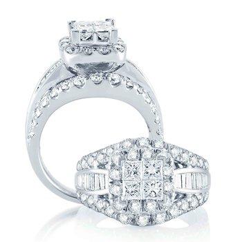 14K  3.00Ct  Bridal  Diam Set