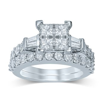 14K 3.02Ct Diam Bridal  Ring