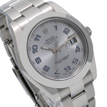 ROLEX DATEJUST II 41MM GREY DIAL WITH STAINLESS STEEL OYSTER BRACELET