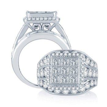 14K  5.00Ct Diam Bridal Ring