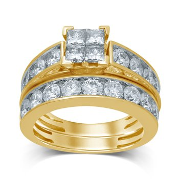 14K 3.33Ct Diam Bridal Ring