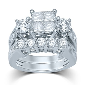 14K 4.00Ct Diam Bridal Ring