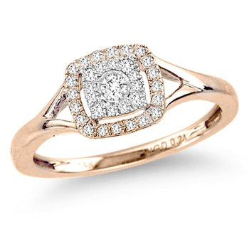 14K 0.21Ct Diamond Ring