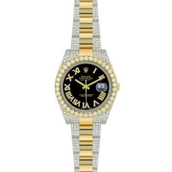 ROLEX DATEJUST II STAINLESS STEEL AND YELLOW GOLD WITH DIAMONDS