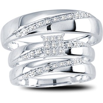 10K  0.15Ct  Diam  Trio  Set