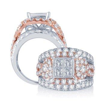 14K  4.00Ct  Diam  Bridal  Ring