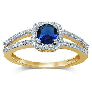 14K Diam  Sapphire  Ring