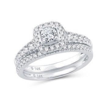 14K 1.02Ct  Diam Bridal Ring
