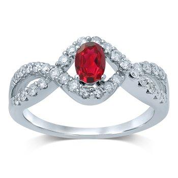 14K Diam  Ruby   Ring