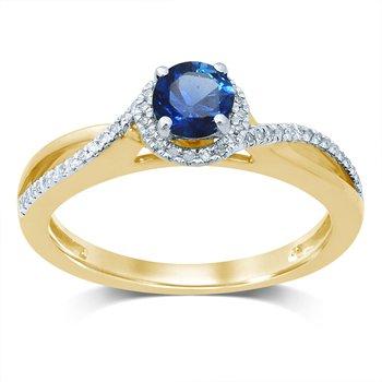 14K Diam  Saphire  Ring