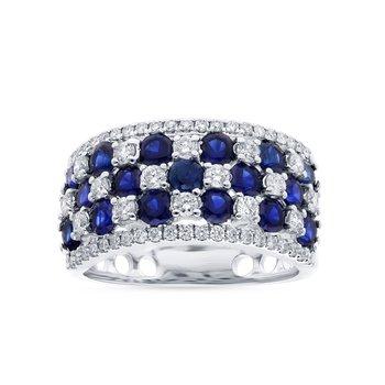 14K 0.73Ct Diam Sapphire Ring
