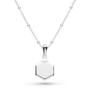 Empire Deco Hexagonal Necklace