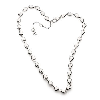 Desire Kiss Linking Hearts Collar Necklace