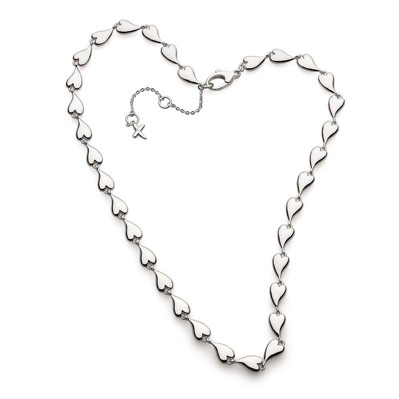 Kit Heath Desire Kiss Linking Hearts Collar Necklace