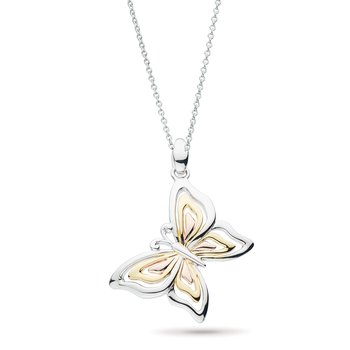 Blossom Flyte Butterfly Tri Colour Necklace