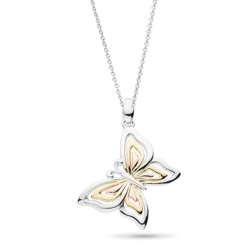 Kit Heath Blossom Flyte Butterfly Tri Colour Necklace