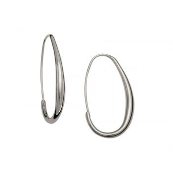 Oval Hoops Earring