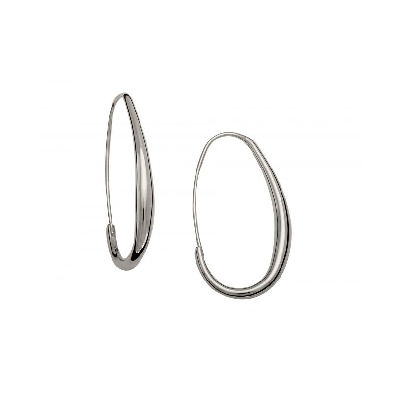 E.L. Designs Oval Hoops Earring