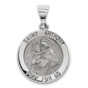 14k White Gold St Anthony Medal