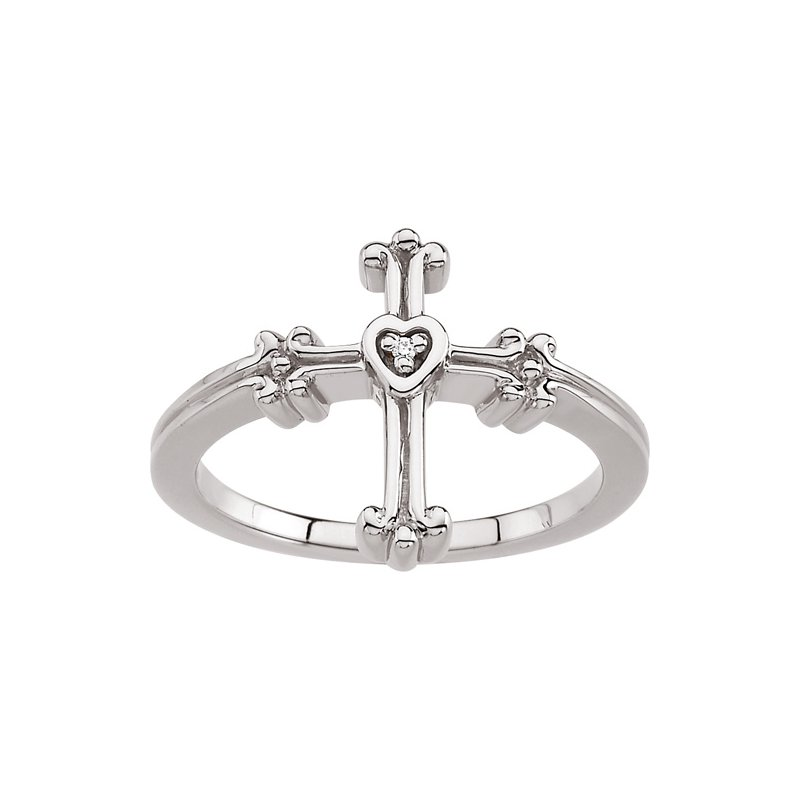 Religious Jewelry Diamond Cross Ring