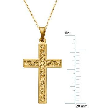 Cross Pendant with Design